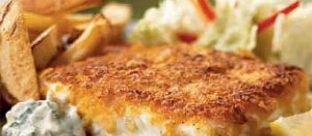 Cornflake-Crusted Halibut with Chile-Cilantro Aioli Recipe  0 ...