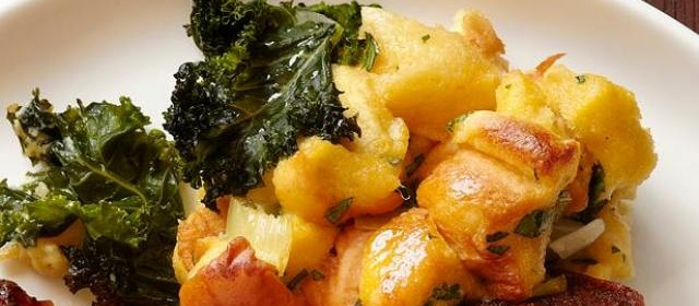 Potato Bread-Kale Stuffing With Andouille Sausage Recipe | Food ...