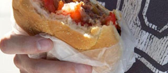 Onion and Mushroom-Stuffed Burger