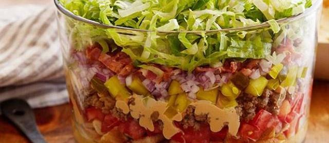 Nine-Layer Cheeseburger Dip Recipe | Food Network Kitchen ...