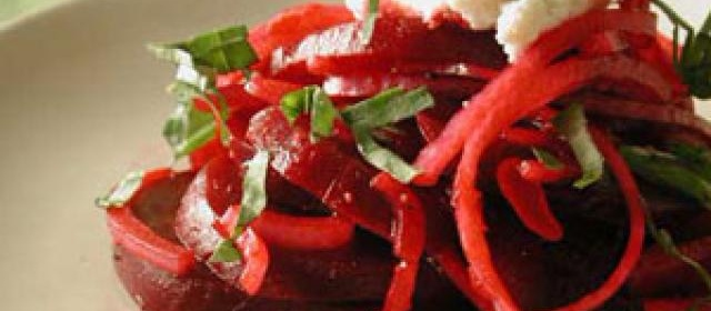 Beet and Red Onion Salad with Ricotta-Provolone Topping Recipe ...